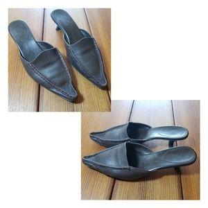 "👡 St. John's Bay ""Miranda"" leather slider shoes"